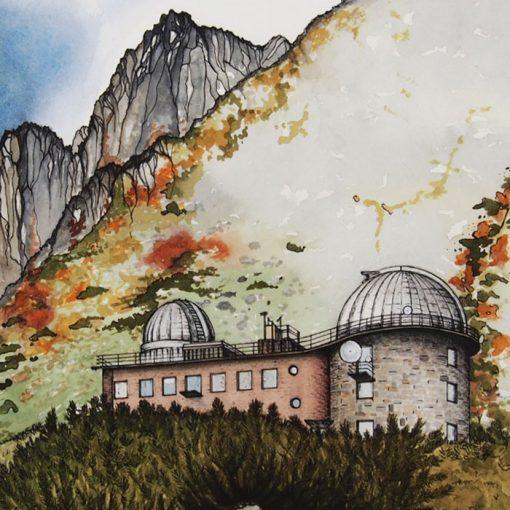 Lena Kollar - Observatórium Skalnaté pleso, A4 / giclée grafika