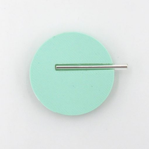 Kruh veľký, mentol - Nikoleta Design / brošňa s magnetom
