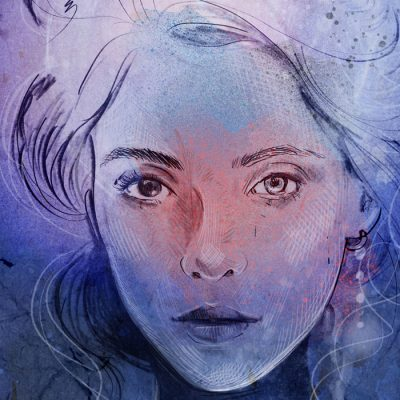 Mesačná - Tina Minor / grafika
