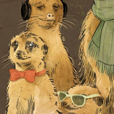 Surikaty gang, A3 - Tina Minor / grafika