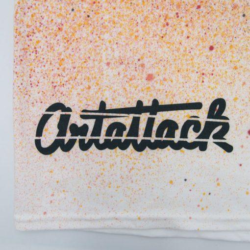 Biele Streetart tričko ArtAttack, žltá+červená