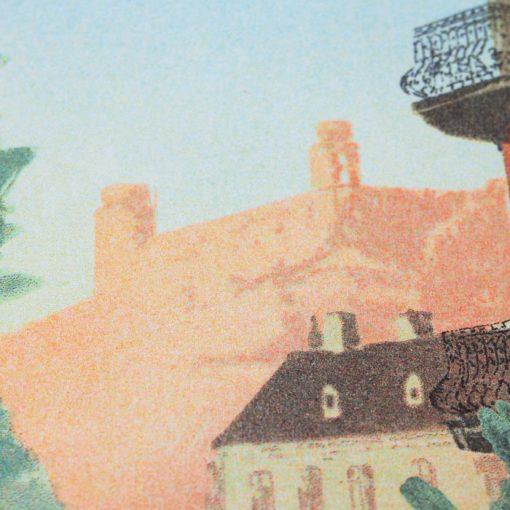 Bratislava 1925: Dunajské nábrežie - Ján Herc / risografika