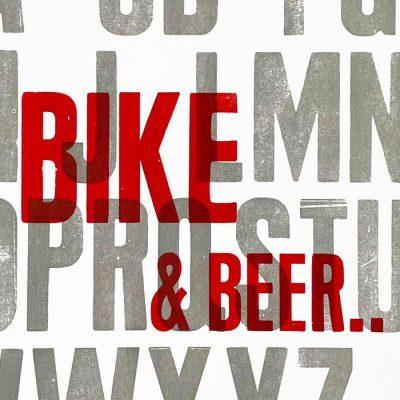 Bike & Beer, 38x50 cm / grafika