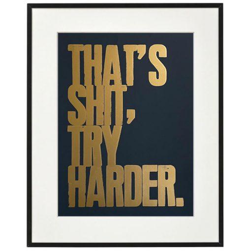 That´s sh*t, try harder. - Noistypo / grafika