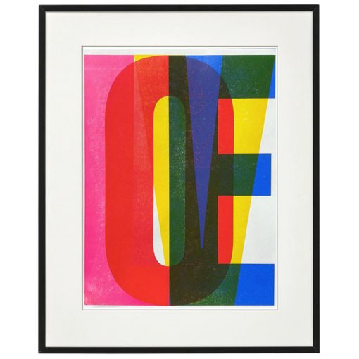 Love - Pressink, 30x40 cm / grafika