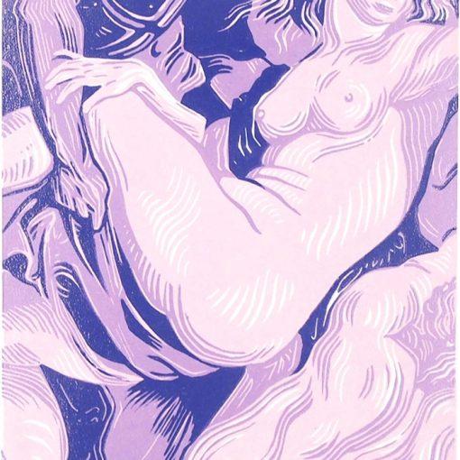 Daughters of Leucippus (after Rubens) - Martina Rötlingová / linorytová grafika 36 x 25 cm
