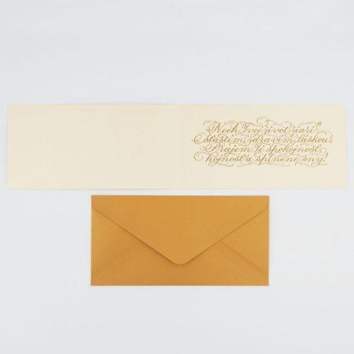 Krásne narodeniny - Platform AT / kaligrafická darčeková karta