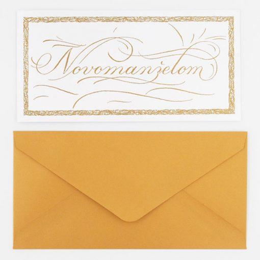 Novomanželom - Platform AT / kaligrafická darčeková karta