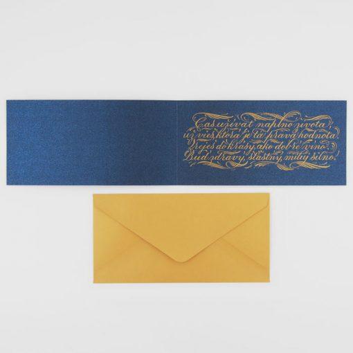 Úžasné jubileum - Platform AT / kaligrafická darčeková karta