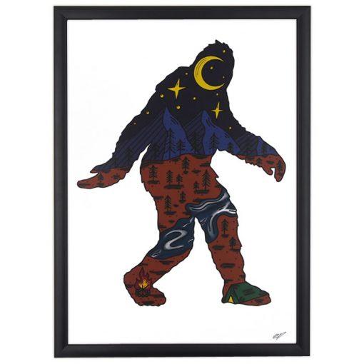 Bigfoot - Zdenko Duliansky / grafika