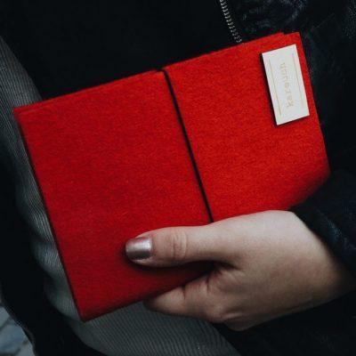 Zápisník linajkové strany červený, A5 / Karouch