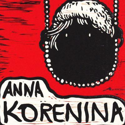 Anna Korenina - Saturejka / linorytová grafika