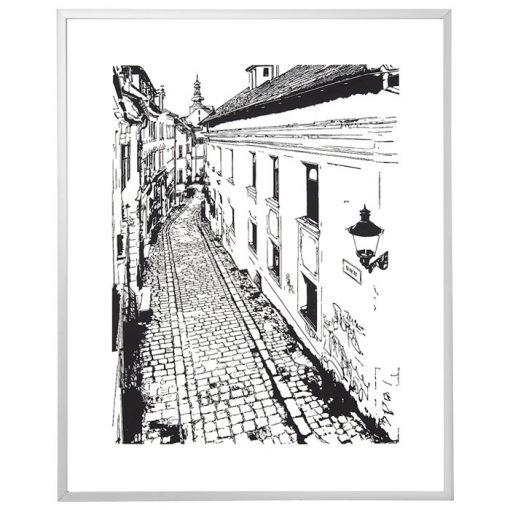 Na vŕšku - Tlatchene, 50 x 40 cm / linorytová grafika