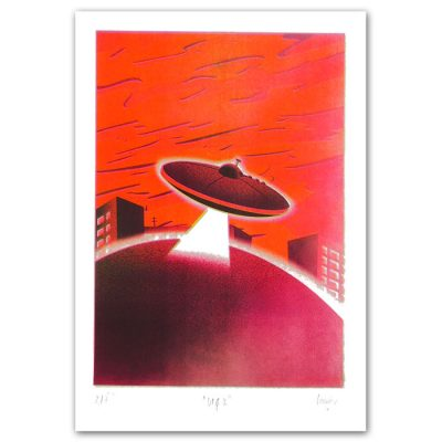 UFO II. - Ondrejov / risografika