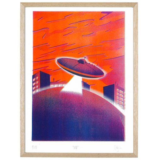 Ondrejov - UFO / risografika