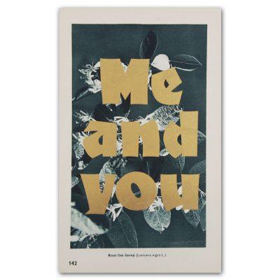 Me and you - Pressink, Kozí list černý / letterpressová grafika