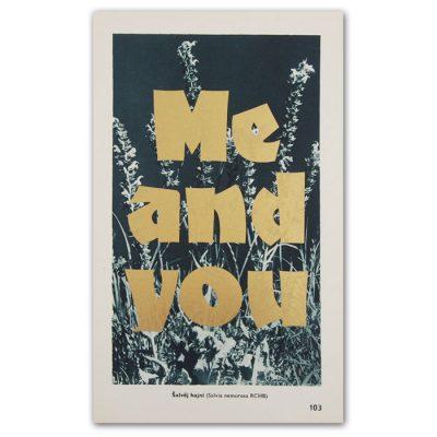 Me and you - Pressink, Šalvej hajní / letterpressová grafika