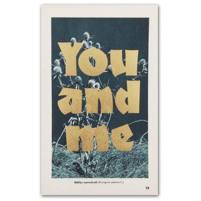 You and me - Pressink, Máčka namodralá / letterpressová grafika