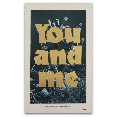 You and me - Pressink, Máta / letterpressová grafika