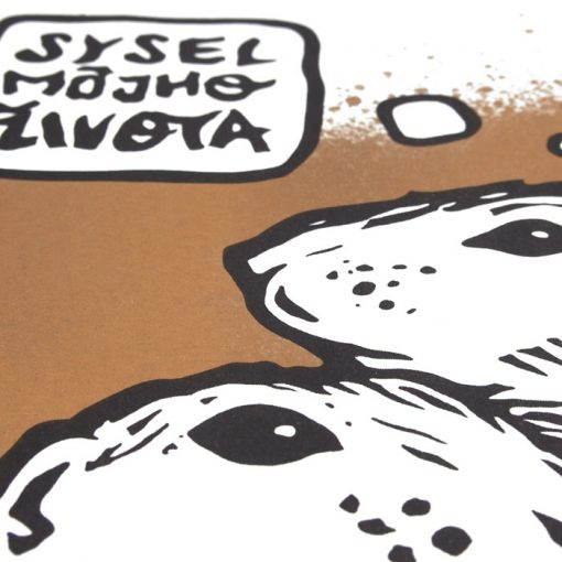 Sysel môjho života, zlatý - Saturejka / risografika
