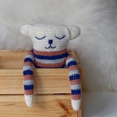 Medvedík Bella / štrikovaná hračka