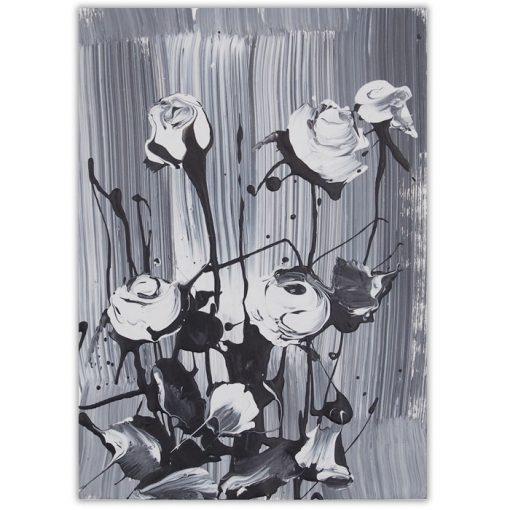 White roses #1 - Ján Hrčka / maľba