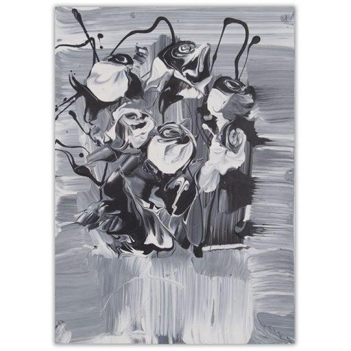 White roses #2 - Ján Hrčka / maľba