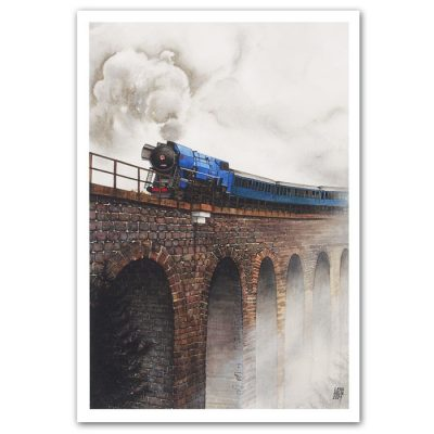 Lena Kollar - Chmarošský viadukt, A4 / giclée grafika
