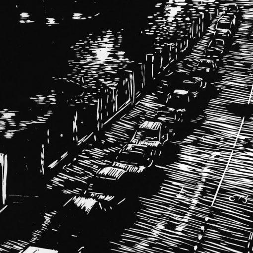 Banskobystrická - Martin Malina / linorytová grafika