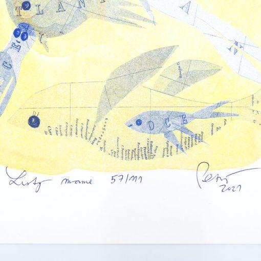 Listy mame C - Miariam Petráňová / risografika