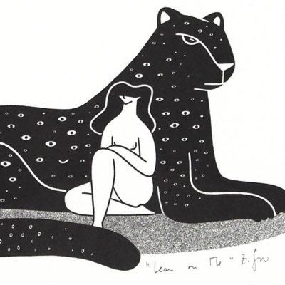 Lean on me - Žužu Gálová, A4 / risografika